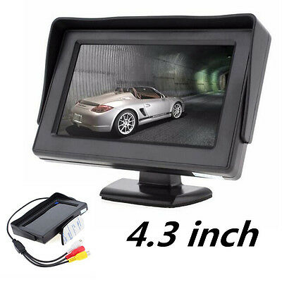 4.3Inch 480 x 272 2-CH Input Sunsade Car Rear View Color LCD DVD VCR Monitor New