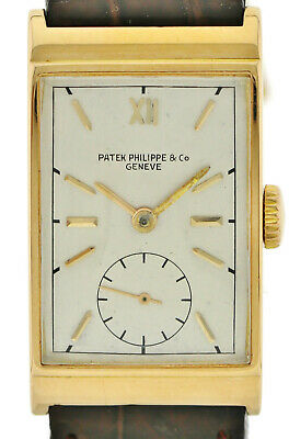 Patek Philippe Rectangle wohl Ref.1560 Roségold Handaufzug Kal 9-90 30x20mm