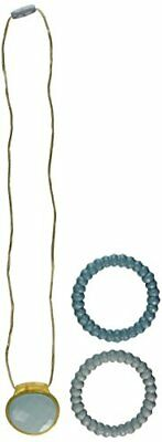 Infantino Teething Gems Pendant and Bracelet Set Teal Baby Teether Toys, New