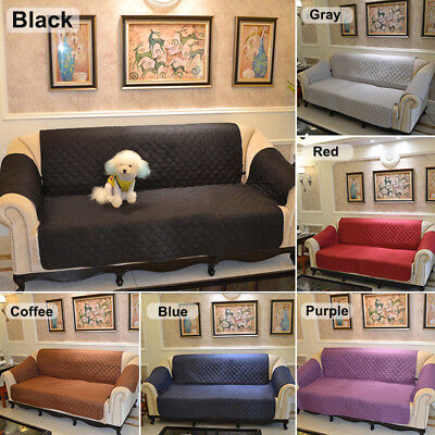 Couch Sofa Cover Removable Quilted Couch Slipcover Pet Protector With Strap