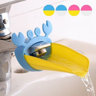 Bathroom Silicone Sink Water Faucet Tap Extender Kids Hand Washing Aid DIY Tool