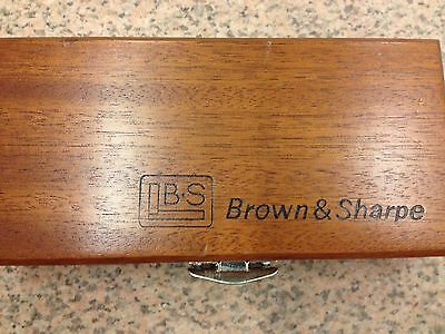 Brown&sharpe Mohogany Wood Box For Indicators And Attachments/machinist Tools