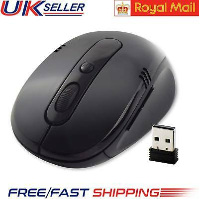 2.4 GHz New Wireless Cordless Mouse USB Optical Scroll For PC Laptop Computer UK