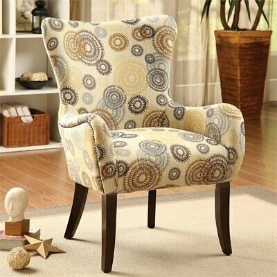 Magnificent Acme Furniture Gabir Fabric Accent Chair In Beige And Gmtry Best Dining Table And Chair Ideas Images Gmtryco