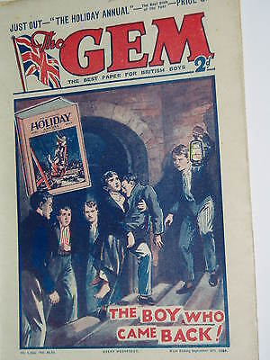 """Vintage""...GEM COMIC...8th September 1934..........St.Jims.........FREE POSTAGE"