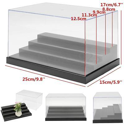 Clear Acrylic Plastic Display Box Case Protection 4 Steps Toys Dustproof 10x6x7""