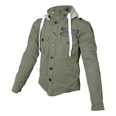 Booster Motorcycle Hoodie Made with DuPont Kevlar CE Armour Casual Jacket Army