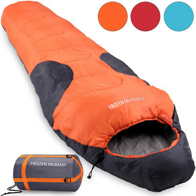 MOUNTAINEER Sleeping Bag Outdoor Camping Festival Hiking Mummy Queen Size 400Gsm