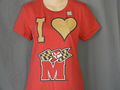 NEW University of Maryland Terrapins Women s T-shirt Short Sleeve Top Size  Large 3ae557139