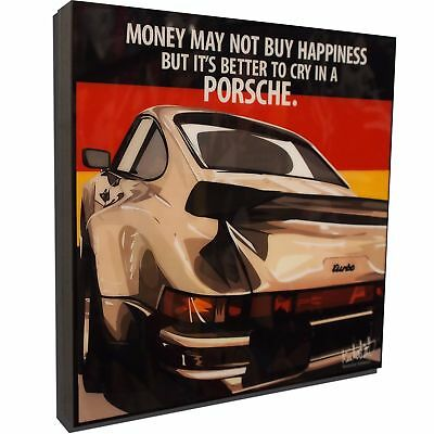 Porsche 911 Turbo Art Framed Canvas Poster Print Gloss Painting Car Race GT