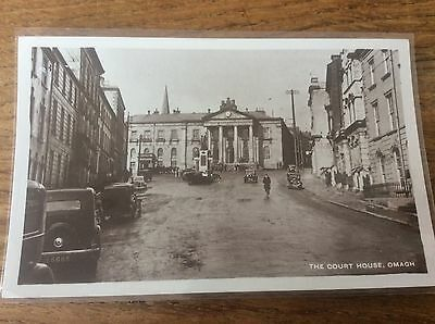 Court House Omagh unused old RP Postcard pic Acme B/W Real Photo Unposted Mint