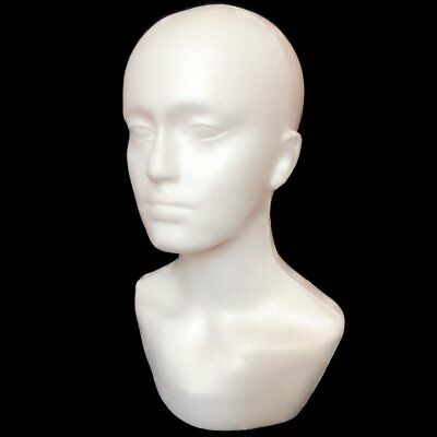 Polystyrene Long Neck Mannequin Head For Wigs Hats Scarves Jewellery Dispay
