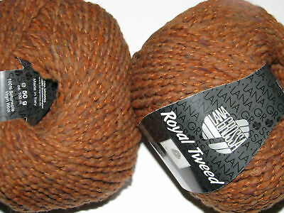 Wolle Kreativ! Lana Grossa - Royal Tweed - Fb. 75 rotbraun meliert 50 g