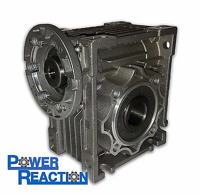 Worm right angle gearbox / speed reducer / size 63 / ratio 80:1 / 71B14 / 30mm