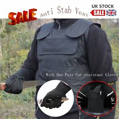 New Tactical anti Stab Self-Defense Vest Supplies With Cut-resistant Gloves UK