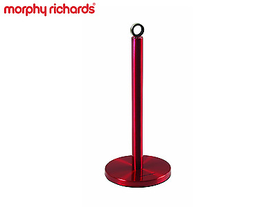 Morphy Richards Paper Roll Towel Pole Holder Kitchen Stand Stainless Steel Red