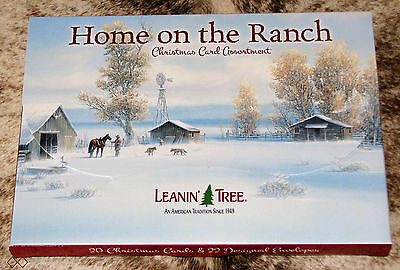 LEANIN TREE Home on the Ranch Holiday Christmas Cards ~ 2 each of 10 designs ~
