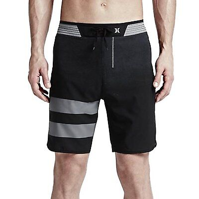 Hurley Men's Phantom Hyperweave Warp Boardshorts, Black/Grey, 36