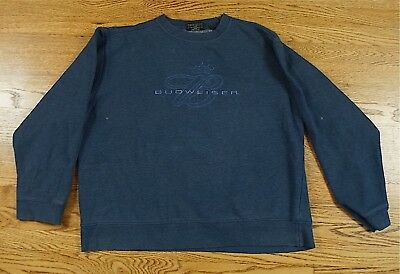 Rare Vintage JONES & MITCHELL Budweiser Spell Out Crew Neck Sweatshirt Crown XL