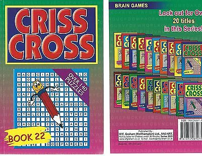 Criss Cross Letters Brain Game Book 140 Puzzles In Great Value At £1.00 Book 22