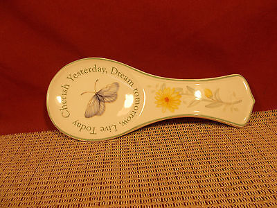 Lenox China Butterfly Meadow Spoon Rest 8 1/4""