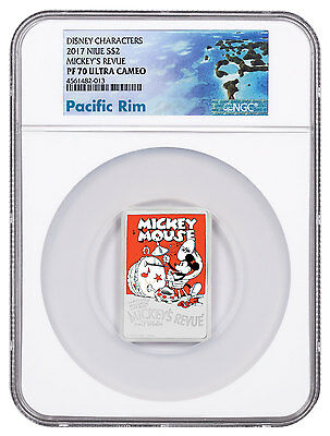 2017 Niue Disney Posters 1930s Mickey's Revue 1 oz Silver NGC PF70 UC SKU48507