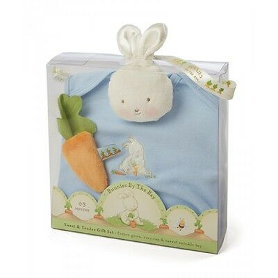 Bunnies By The Bay Sweet & Tender Baby Gift Set- Gown, Cap, Rattle, Crinkle Toy