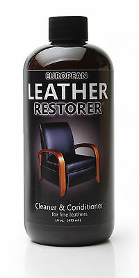 European Leather Restorer - Leather Cleaner & Conditioner and Softener 16oz Pint