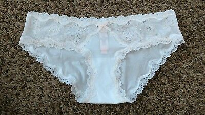 2211788726 NWT Victorias Secret Dream Angels Lace Trim Hipkini Panty Small Coconut  White
