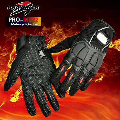 Black Motocross Racing MTB Bike Bicycle Cycling Riding Safety Motorcycle Gloves