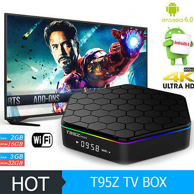 Hot T95Z plus Android TV BOX Amlogic S912 BT WIFI Octa core 16/32GB Media Player