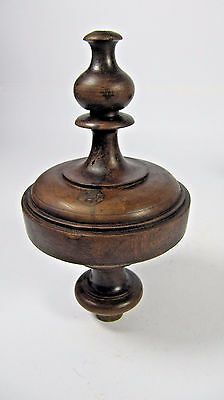 Newel Post Finial: Antique French Wood Carved Finial Architectural Salvaged #1