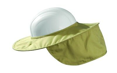 Cotton Sun Shade Stow Away Occunomix Hard Hat Protects Face Neck Super Brim