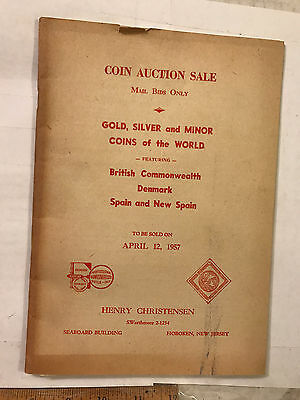 1957 Book featuring Coin Auction Sale British Commonwealth Denmark Spain ++