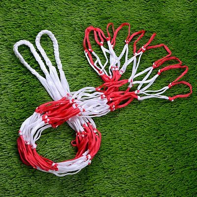 10 Balls Red&White Carry Mesh Net Bag-Holds For Sports Basketball Soccer 1.2M