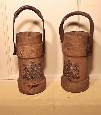 British Army Canvas Artillery Shell Carriers or Quirky Stick Stands Wine Carrier