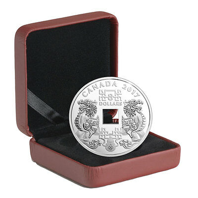 2017 Canada Feng Shui -Good Luck Charms 2/3 oz Silver Proof $8 Coin OGP SKU48399