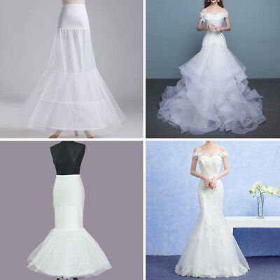 Wedding Dress Petticoat Crinoline A-line Fishtail Mermaid Hoops Slip Underskirt