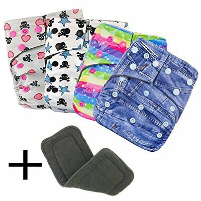 Swimming Diaper Cloth Diapers All in One Size Set Reusable Baby Bamboo Pocket Di