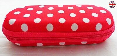 Glasses Case Zipped Hard Spectacle Case Protects Against Scratches Damage Polka