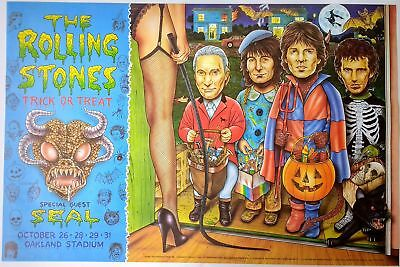 The Rolling Stones Poster – Trick or Treat w/ Seal 1994 (ORIGINAL)