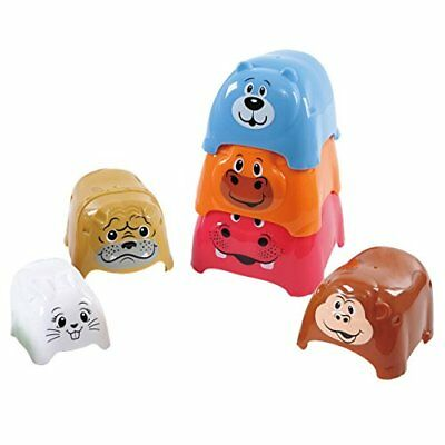 PlayGo Animal Party Stackers Playset Sorting Stacking Baby Toys, New