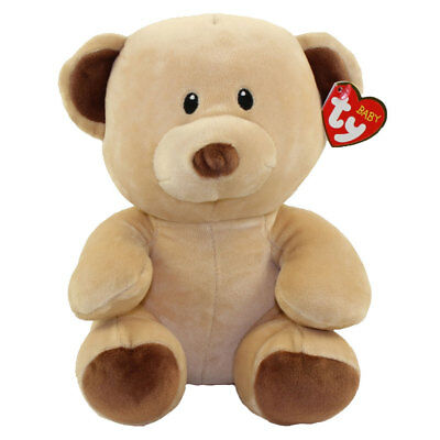 Baby TY - BUNDLES the Brown Bear (Medium Size - 8 inch) - New BabyTy Stuffed Toy