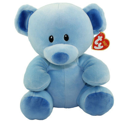 Baby TY - LULLABY the Blue Bear (Medium Size - 8 inch) - New BabyTy Stuffed Toy