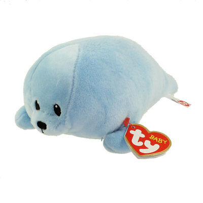 Baby TY - SQUIRT the Blue Seal (Regular Size - 7 inch) - New BabyTy Stuffed Toy