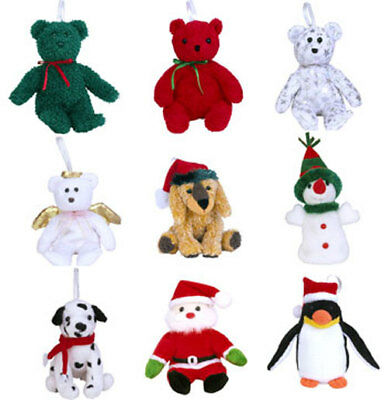 TY Jingle Beanie Babies - Holiday 2002 Complete set of 9 (Teddies, Santa, Halo+)