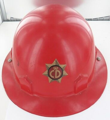 Rare / Vintage Australian Cd Civil Defence Large Hard Hat.