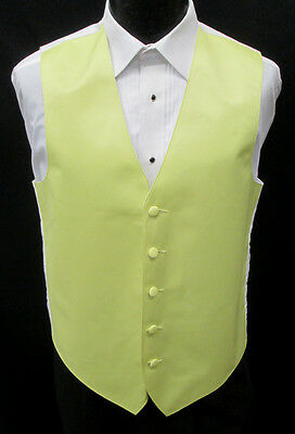 New Lemondrop Yellow Satin Fullback Tuxedo Vest Spring Wedding Prom Formal
