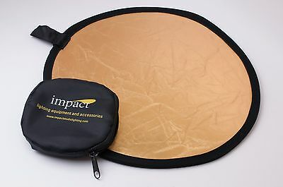 Impact Collapsible Circular Reflector Disc Gold/Silver 12 inch with Pouch(#2344)