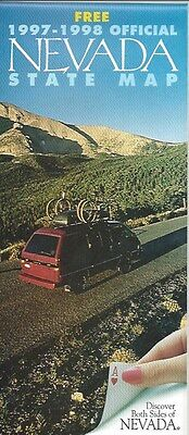 1997-1998 Official Road Map of Nevada